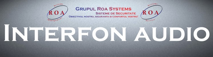 Interfon audio